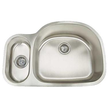Artisan Sinks Premium Series 31.5'' x 20.75'' Double Bowl Undermount Kitchen Sink; Right Sink