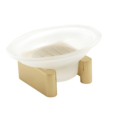 Alno Luna Counter Top Soap Dish; Polished Brass