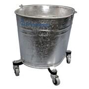Geerpres Seaway Galvanized 26 Quart Oval Mop Bucket w/ 2'' Casters