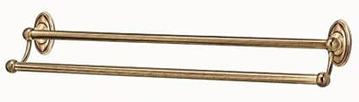Alno Classic Traditional Double Wall Mounted Towel Bar; Antique English Matte