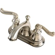 Estora Brescia Centerset Bathroom Faucet w/ Double Lever Handles; Brushed Nickel