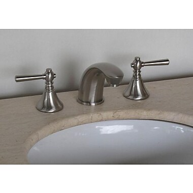Legion Furniture Widespread Bathroom Faucet w/ Double Handles; Brushed Nickel