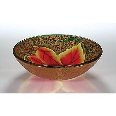 Legion Furniture Circular Vessel Bathroom Sink; Autumn Leaf