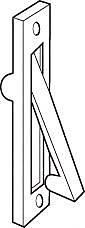DON-JO MFG INC. Edge Pull; Satin Nickel