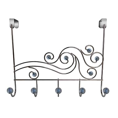 Elegant Home Fashions Phoenix Over-the-Door 5-Hook Towel Hook; Transparent