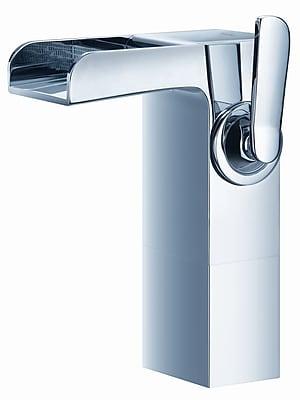 Artos Kascade Single Hole Waterfall Bathroom Sink Faucet with; Brushed Nickel