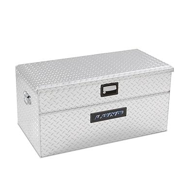 Lund Inc. Wide Flush Mount Single Lid Truck Tool Box; Silver