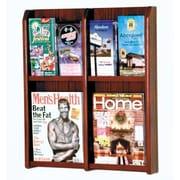 Wooden Mallet 4 Magazine / 8 Brochure Wall Display; Dark Red Mahogany