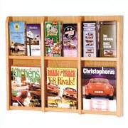 Wooden Mallet 6 Magazine / 12 Brochure Wall Display; Light Oak