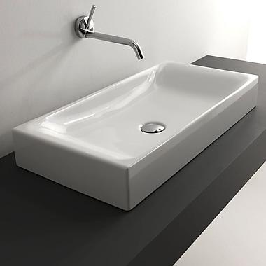 WS Bath Collections Kerasan Cento Rectangular Vessel Bathroom Sink