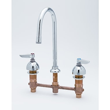 T&S Brass Widespread Bathroom Faucet w/ Double Handles