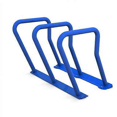 Frost 6 Bike Freestanding Bike Rack; Blue