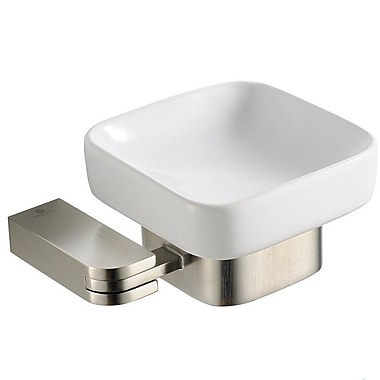 Fresca Solido Soap Dish; Brushed Nickel