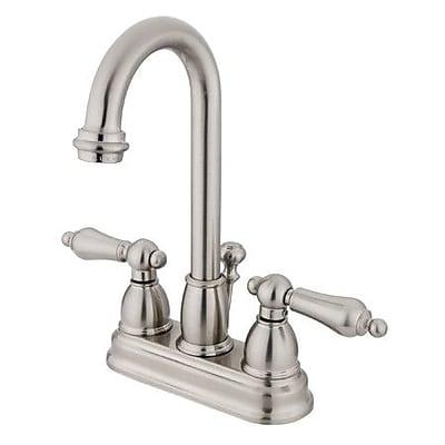 Elements of Design Restoration Centerset Bathroom Faucet w/ Drain Assembly; Satin Nickel