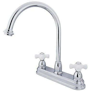 Elements of Design Touchless Double Handle Kitchen Faucet; Polished Chrome