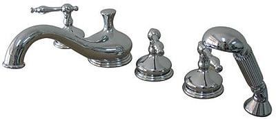 Elements of Design Heritage Double Handle Deck Mount Roman Tub Faucet; Oil Rubbed Bronze