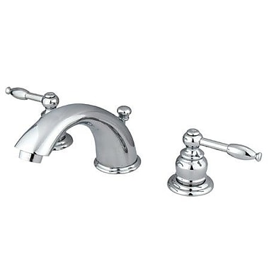 Elements of Design Magellan Widespread Bathroom Faucet w/ Double Lever Handles; Polished Chrome