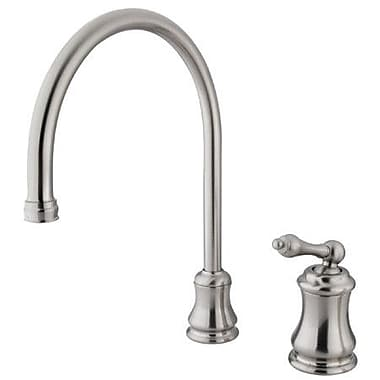 Elements of Design Restoration Single Handle Kitchen Faucet; Satin Nickel