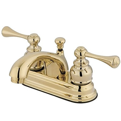 Elements of Design Vintage Centerset Bathroom Faucet w/ Drain Assembly; Polished Brass