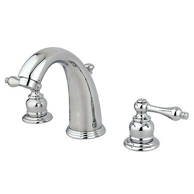 Elements of Design Widespread Bathroom Faucet w/ Drain Assembly; Polished Chrome