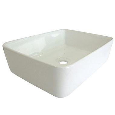 Elements of Design French Petite Rectangular Vessel Bathroom Sink; White