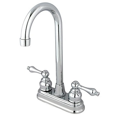 Elements of Design Magellan Centerset Bar Faucet w/ Victorian Lever Handles; Polished Chrome