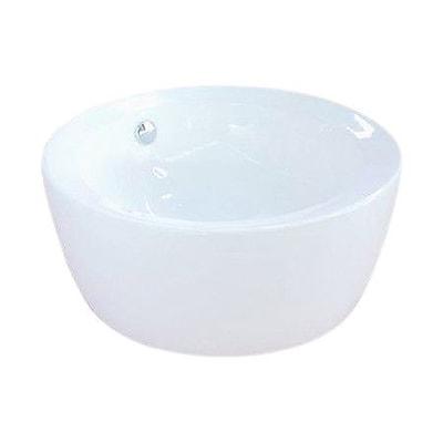 Elements of Design Dynasty Ceramic Circular Vessel Bathroom Sink w/ Overflow