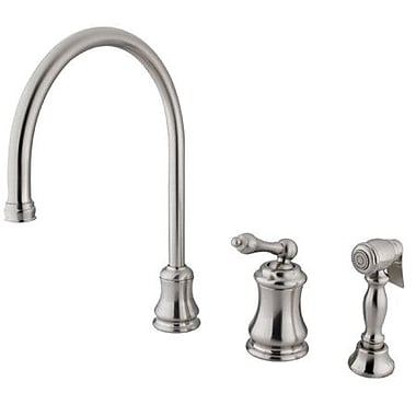 Elements of Design Touchless Single Handle Kitchen Faucet w/ Side Spray; Satin Nickel