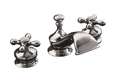 Strom Plumbing by Sign of the Crab Thames Widespread Bathroom Faucet; Matte Nickel