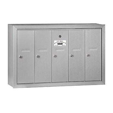 Salsbury Industries 5 Door Front Load Vertical Mail Center; Aluminum