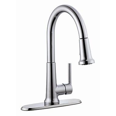 Design House Geneva Single Handle Kitchen Faucet w/ Pullout Sprayer; Polished Chrome