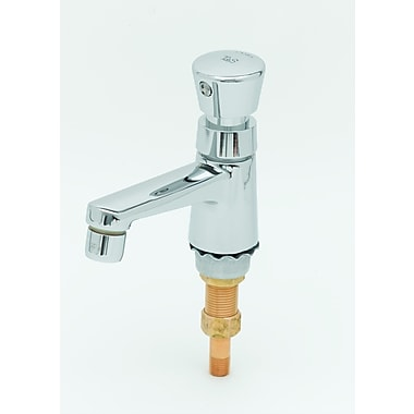 T&S Brass Single Hole Metering Faucet w/ Single Push Handle