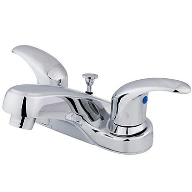 Elements of Design Legacy Centerset Double Handle Bathroom Faucet w/ Drain Assembly; Polished Chrome