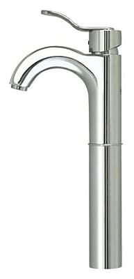 Whitehaus Collection Wavehaus Single Hole Bathroom Faucet with; Polished Chrome