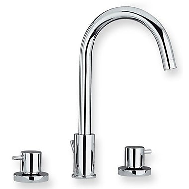 Whitehaus Collection Luxe Widespread Bathroom Faucet w/ Double Handles; Polished Chrome