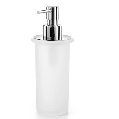 WS Bath Collections Saon Soap Dispenser; Polished Chrome / Frosted Glass