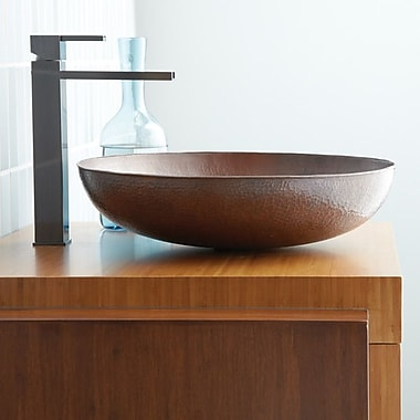 Native Trails Maestro Metal Circular Vessel Bathroom Sink