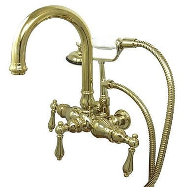 Kingston Brass Vintage Clawfoot Tub Faucet; Polished Brass