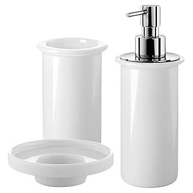 WS Bath Collections Saon 3-Piece Bathroom Accessory Set; White Porcelain