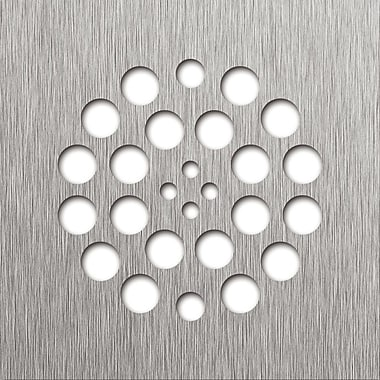 Tile Redi 4.25'' Grid Shower Drain; Brushed Nickel