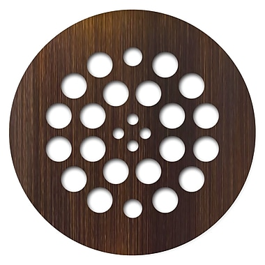 Tile Redi 4.25'' Grid Shower Drain; Oil Rubbed Bronze