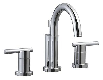 Design House Geneva Wide Spread Bathroom Faucet; Polished Chrome