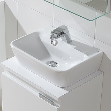 Bissonnet Emma Ceramic 17'' Wall Mounted Bathroom Sink w/ Overflow