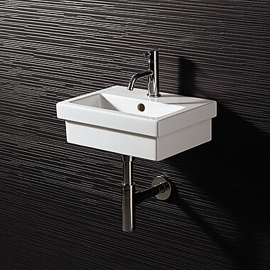 Bissonnet Area Boutique Logic 40 Ceramic Bathroom Sink