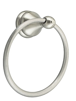 Design House Allante Wall Mounted Towel Ring; Satin Nickel