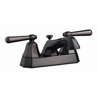 Design House Barcelona Double Handle Centerset Bathroom Faucet; Brushed Bronze