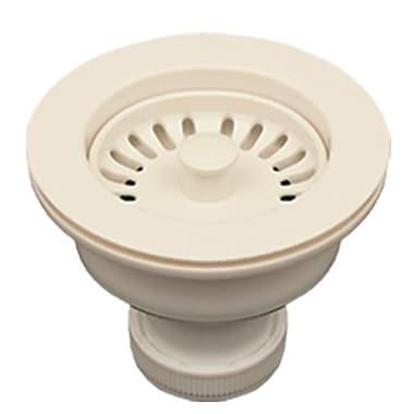 Whitehaus Collection 3.5'' Basket Strainer for 3.5'' Kitchen Sinks; Biscuit