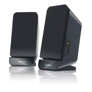 Creative® Labs A60 4 W 2.0 Desktop Speakers, Black