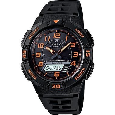 Casio® AQS800W-1B2V Men's Analog/Digital Tough Solar Sports Chronograph Wrist Watch, Black