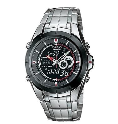 Casio® EFA119BK-1A Men's Analog/Digital Twin Sensor Wrist Watch, Silver